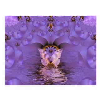 Extracto púrpura de la mariposa postales