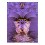 Extracto púrpura de la mariposa tarjetas postales