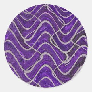 extracto púrpura de la pared pegatinas redondas