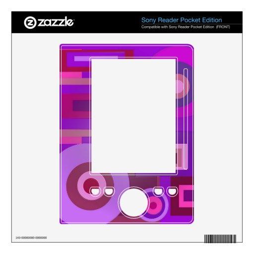 Extracto púrpura de los cuadrados de los círculos  skins para sony reader