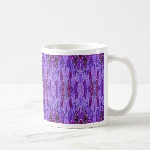 Extracto púrpura de los diamantes taza de café