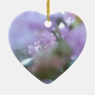 Extracto púrpura de Redbuds Adorno De Cerámica En Forma De Corazón