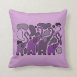 Extracto púrpura del arte del elefante cojin