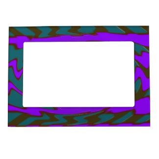Extracto púrpura del arte pop del trullo marcos magnéticos para fotos