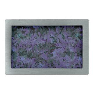 Extracto púrpura del carbón de leña retro hebilla cinturón rectangular
