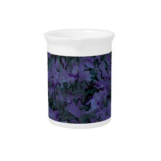 Extracto púrpura del carbón de leña retro jarron