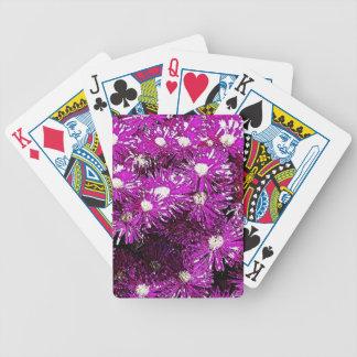 Extracto púrpura del casquete glaciar cartas de juego