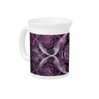 Extracto púrpura del fractal de la conciencia jarron