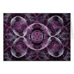 Extracto púrpura del fractal de la conciencia tarjeta de felicitación
