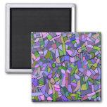 Extracto púrpura del mosaico imanes