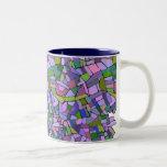 Extracto púrpura del mosaico taza