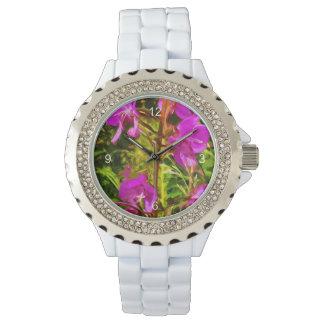 Extracto púrpura del Wildflower de Alaska del Reloj