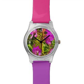 Extracto púrpura del Wildflower de Alaska del Reloj De Mano