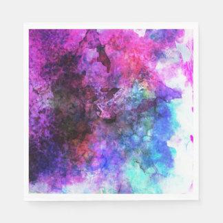 Extracto púrpura fabuloso de la acuarela servilleta desechable