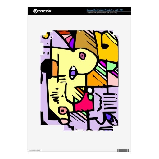 Extracto púrpura iPad 3 skin