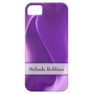 Extracto púrpura personalizado de la llama funda para iPhone 5 barely there