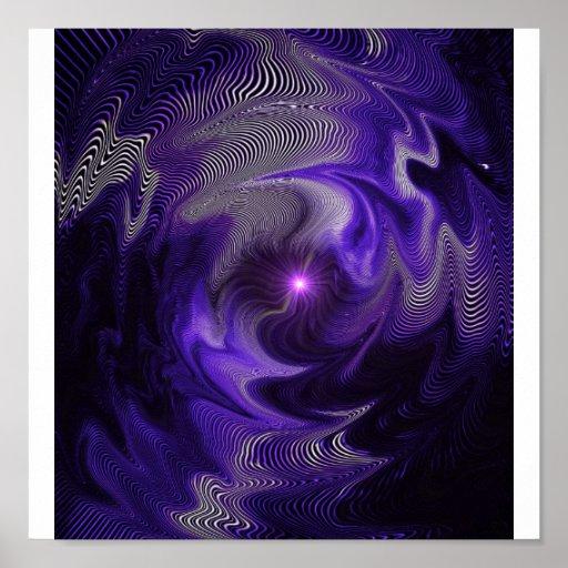 Extracto púrpura póster