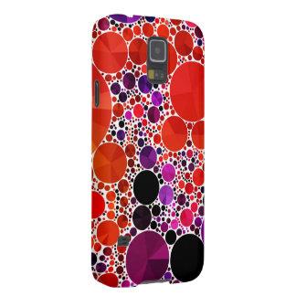Extracto púrpura rojo brillante de Bling Carcasa Para Galaxy S5
