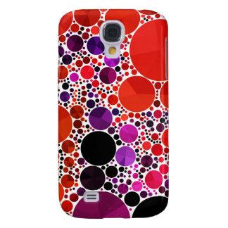 Extracto púrpura rojo brillante de Bling Funda Para Galaxy S4