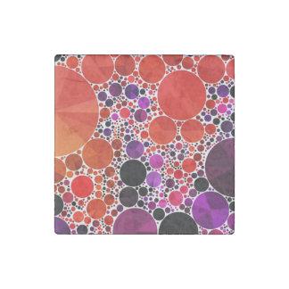 Extracto púrpura rojo brillante de Bling Imán De Piedra