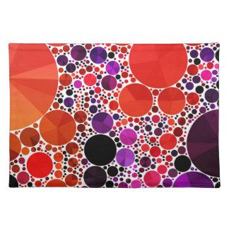 Extracto púrpura rojo brillante de Bling Mantel Individual