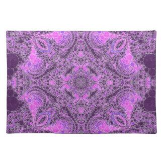 Extracto púrpura rosado brillante mantel individual