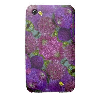 Extracto púrpura rosado iPhone 3 Case-Mate cobertura