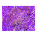 Extracto púrpura tarjeta postal