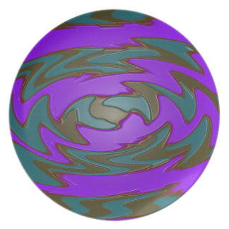 extracto púrpura verde maravilloso plato para fiesta
