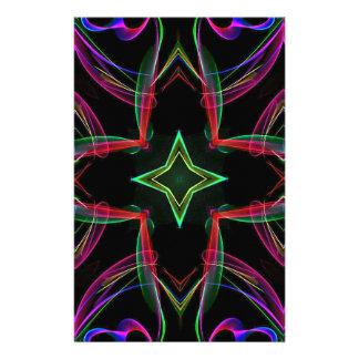 Extracto púrpura verde rojo de neón enrrollado  papeleria de diseño