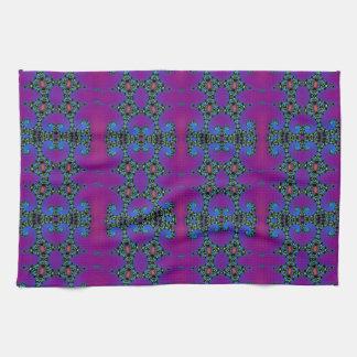 Extracto púrpura y azul del fractal toalla