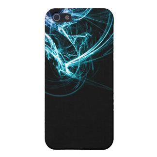 Extracto púrpura y azul iPhone 5 funda