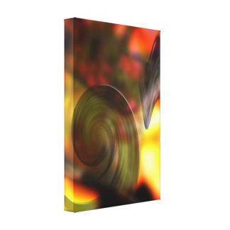Extracto que remolina de colores impresiones de lienzo