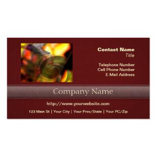 Extracto que remolina de colores plantilla de tarjeta de negocio