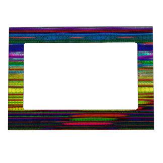 Extracto rayado fluorescente Trippy Marcos Magnéticos De Fotos