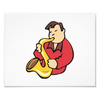 extracto red png del hombre del jugador de saxofón arte fotografico