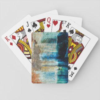 Extracto representado del nacional de las rocas a barajas de cartas