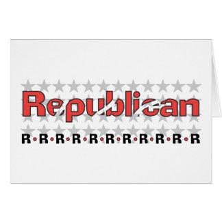 Extracto republicano tarjeta de felicitación