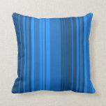Extracto retro azul del diseño del arte de las ray cojin