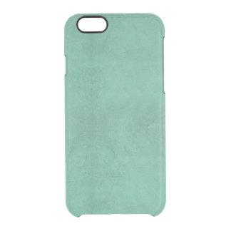 Extracto retro del verde del trullo del Grunge del Funda Clear Para iPhone 6/6S
