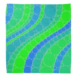 Extracto retro verde fluorescente bandanas