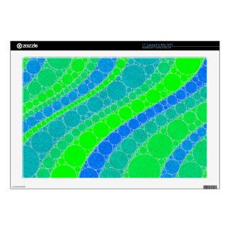 Extracto retro verde fluorescente calcomanías para portátiles