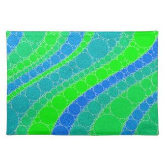 Extracto retro verde fluorescente manteles