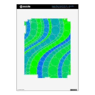 Extracto retro verde fluorescente pegatina skin para iPad 3