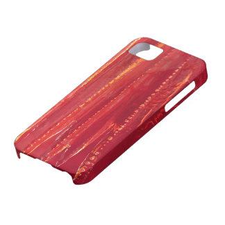 Extracto rojo contemporáneo de la bella arte del © iPhone 5 cobertura