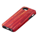 Extracto rojo contemporáneo de la bella arte del © iPhone 5 Case-Mate funda