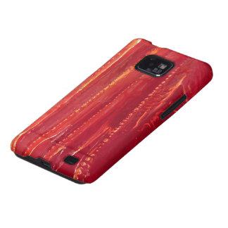 Extracto rojo contemporáneo de la bella arte del © samsung galaxy s2 carcasas