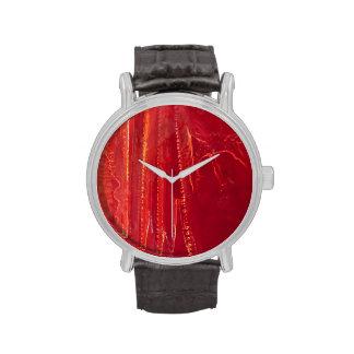 Extracto rojo contemporáneo de la bella arte del © relojes