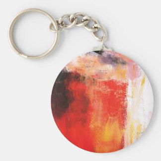 Extracto rojo creativo llavero redondo tipo pin
