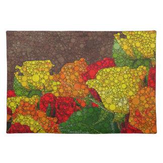 Extracto rojo de la flor de Brown amarillo Manteles